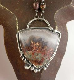 Prudent Man Agate Necklace Sterling Silver by SimplyAdorning, $168.00