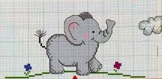Resultado de imagen para graficos de elefantes baby em ponto cruz