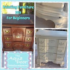DIY Furniture Painting For Beginners TheAquaDoor.wordpress.com