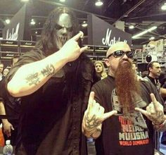 Mick Thomson of Slipknot and Kerry King of Slayer.