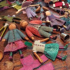 Posts about my design productions written by Salley Mavor Dollhouse Dolls, Miniature Dolls, Dollhouse Miniatures, Doll Clothes Patterns, Doll Patterns, Fabric Dolls, Paper Dolls, Worry Dolls, Clothes Pegs