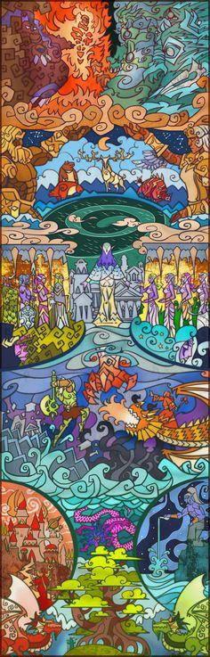 Saga épica en Gráficos de colores de cristal / Jian Guo (35)
