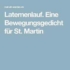 Laternenlauf. Eine Bewegungsgedicht für St. Martin