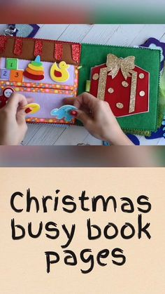 Items similar to Christmas busy book, unisex xmas quiet book, fine motor skill toy, montessori kids sensory play for occupational therapy on Etsy Toddler Christmas Gifts, Christmas Couple, Christmas Games, Christmas Crafts For Kids, Christmas Activities, Christmas Videos, Baby Quiet Book, Felt Quiet Books, Infant Activities