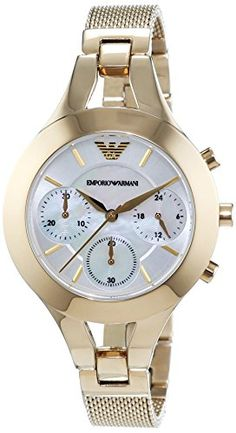 Emporio Armani Women's Quartz Watch with Mother of Pearl Dial Chronograph…