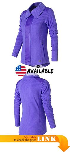 B018MZPN06 : New Balance Women's Novelty Heat Jacket Spectral Medium. Herringbone patterned knit body fabric with reflective trims. High collar. Woven Overlays at center front and top of arms. Hand pockets and thumbholes. Nb heat captures warmth wicks dry and is lightweight #Sports #OUTERWEAR