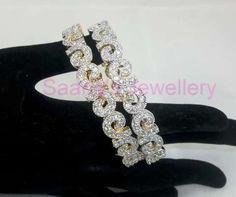 2.4 American Diamond Shimmer Bangles