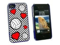 Amazon.com: Volleyball Love - Snap On Hard Protective Case for Apple iPhone 4 4S - Blue: Cell Phones & Accessories