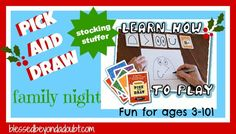Enter to WIN! Pick and Draw is an excitingly simple game that you can learn in only 5 minutes or less. It's perfect for our family's nights! And, anyone can join in at anytime.