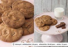 Martha csokis keksze | NOSALTY – receptek képekkel Sweet Cakes, Yummy Drinks, Biscotti, Martha Stewart, Sweets, Snacks, Cookies, Cream, Recipes