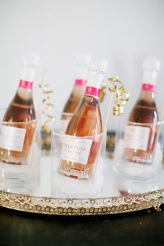 mini champagne bottles? yes, please!