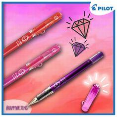 Objevte nový zářící módní doplněk! Nový jehličkový gelový roller Pilot Maica v mnoha svěžích barvách a v exkluzivním designu s imitací diamantu