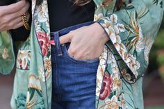 How To Style An Embroidered Robe For Spring