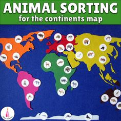 This set of animals cards is perfect for working with the continent maps. The photos of animals are realistic and beautiful. I tried to make this material working just for you, that's why: ✔ there are 3 sizes of cards available. You can choose what cards suit your