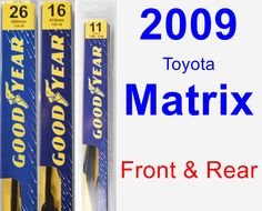 Front & Rear Wiper Blade Pack for 2009 Toyota Matrix - Premium