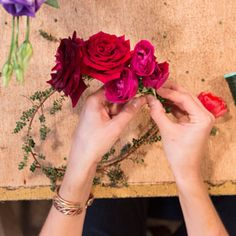 DIY: Make a Day of the Dead–Inspired Flower Crown  #InStyle