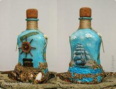 Декор предметов Декупаж Декоративные бутылочки Салфетки фото 2