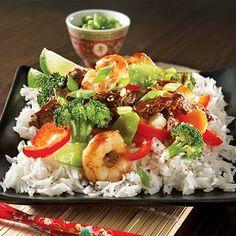 Mets, Cobb Salad, Saute, Grains, Spaghetti, Rice, Favorite Recipes, Asian, Cooking