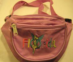 Disney Fanny Pack, Embroidered Florida Logo, Nylon.