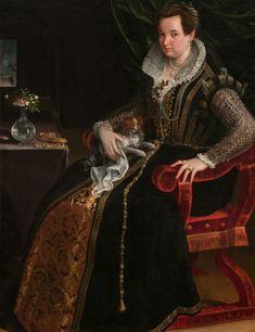 Ritratto di Costanza Alidosi.  1594. Olio su tela.  National Museum of of Women's art