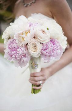 Pink Peony Wedding Bouquet - Photography: Justin & Mary: Lauren Kinsey Fine Art Wedding Photography