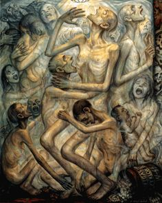 Gassing by David Olère. 131x162 cm, A Living Memorial to the Holocaust, New…