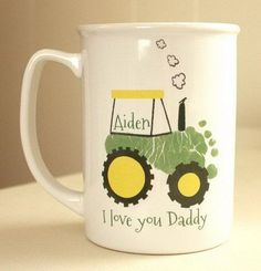 A mug with special message. Create this ceramic keepsake mug the Chid's prints. It would be your father's favorite for years to come. http://hative.com/creative-diy-holiday-gift-ideas-for-parents-from-kids/