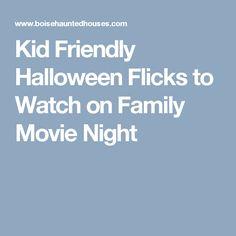 Kid Friendly Halloween Flicks to Watch on Family Movie Night Family Friendly Halloween Movies, Classic Halloween Movies, Family Movie Night, Halloween Season, Great Movies, Watch, Kids, Young Children, Clock