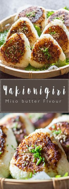 Miso Yaki Onigiri are delicious grilled rice balls coated in a tasty Miso Butter Sauce that are simple, and easy to eat on the go for lunch or a snack! Miso Butter, Butter Sauce, Rice Sauce, Vegan Butter, Peanut Butter, Soy Sauce, Yaki Onigiri, Japanese Dishes, Japanese Meals