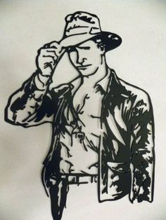 Indiana Jones Metal Wall Art Home Theater Decor *** Click image for more details. (This is an affiliate link and I receive a commission for the sales) Create Name, After Prom, Home Theater Decor, Glass Engraving, Metal Wall Art Decor, Steel Art, Indiana Jones, Wall Sculptures, Garden Art