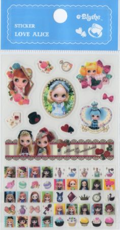 Blythe stickers from Junie Moon Japan