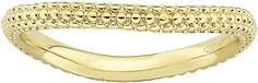 JCPenney FINE JEWELRY Personally Stackable 18K Yellow Gold Over Sterling Silver Beaded Dome Wave Ring