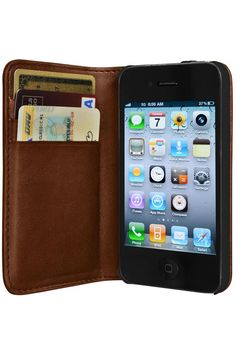 Leather Wallet & iPhone Case in One.