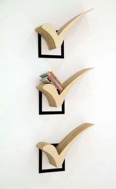 Check mark bookshelves for the books you've finished. A genius decorating idea for bookworms!