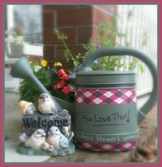 duck tape craft watering can makeover