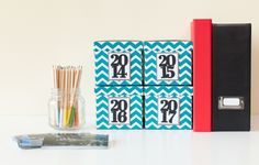Days and Dates Cricut Cartridge -- Make these Storage Boxes with your Cricut Explore in Cricut Design Space.