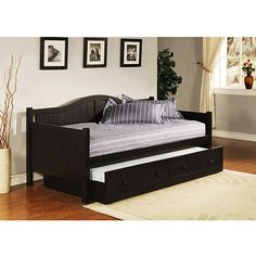 daybed with trundle | Staci Daybed with Trundle, Black: Furniture : Walmart.com