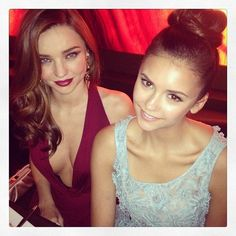 Miranda Kerr and Nina Dobrev at InStyle's Golden Globes party