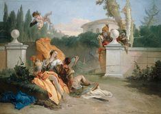 "Giovani Batista Tiepolo ~ ""Rinaldo and Armida in Her Garden"", 1742-45, The Art Institute of Chicago."