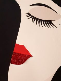 his amazingly luxury illustration is embellished with Swarovski crystals.  We are based in Tirol in Austria and we take our stones directly from the Swarovski factory.   Crystals are in perfect quality, they shine so beautifully and the live effect isn't even comparable to pictures seen in the offer. Crystal Lips, Female Portrait, Austria, Swarovski Crystals, Stones, Live, Luxury, Unique Jewelry, Illustration