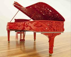 Steinway Grand Piano by Michael Parakowhai for Venice Biennale 2011. Made to be played