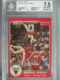 0953781fcaadee 1984 85 Star Basketball  101 Michael Jordan Rookie Rc BGS 7.5 NM HOF Bulls