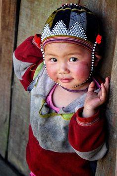 cute little boy from Sapa, Vietnam