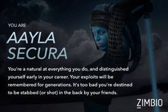 If I were in Star Wars, I would be Aayla Secura! How about you?   #ZimbioQuiz - Quiz