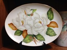 Gary Collins China painted magnolias
