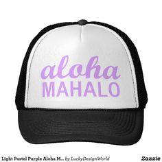 """紫色のアロハMahaloの軽いパステル調のタイポグラフィ """"更新: これは2017年3月の帽子の""""上の一突き""""のためのZazzleのホームページで特色になりました! このような理由で、このスタイルは他の色の選択で今利用できます! 今あります: 8つの新しい選択: 幸運なデザインの世界のZazzleの店で""""アロハMahaloのコレクション""""を見て下さい。 より多くのプロダクトはやがて加えられます! """" ...... アロハハワイの言語の平均""""こんにちは""""および""""さようなら""""、しかしそれはまた現在の時の平和で嬉しい共有の愛情のある表現です。 ハワイの言語平均のMahaloは感謝のあなたそして一般的な表現力を感謝していしています。 意味の単語、ハワイすべての事の島のライフスタイルそして愛を表示するためにフォントの不朽の組合せで示される確実の単語。 このデザインは非常に軽い淡いピンクで示されます。 """"最高のな願い + 幸運なデザインの世界からのMahalo""""。 より多くの情報訪問のためブログ: www.LuckyDesignWorld.com"""