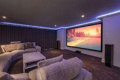 Bamboo carpet installed in a cinema room near Cheltenham