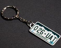 Mini copy license plate keychain car accessory key chain | Etsy