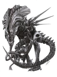 This is what I would like for my next Alien Tattoo. I love the picture as it incorporates all the Aliens