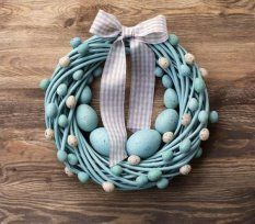 Items similar to Easter wreath turquoise&beige spring pastel holiday home decor door wall wreaths decorations egg eggs nest on Etsy, a global handmade and vintage marketplace. Easter Wreaths, Holiday Wreaths, Easter Crafts, Christmas Crafts, Easter Decor, Easter Ideas, Diy Ostern, Easter Holidays, Home And Deco